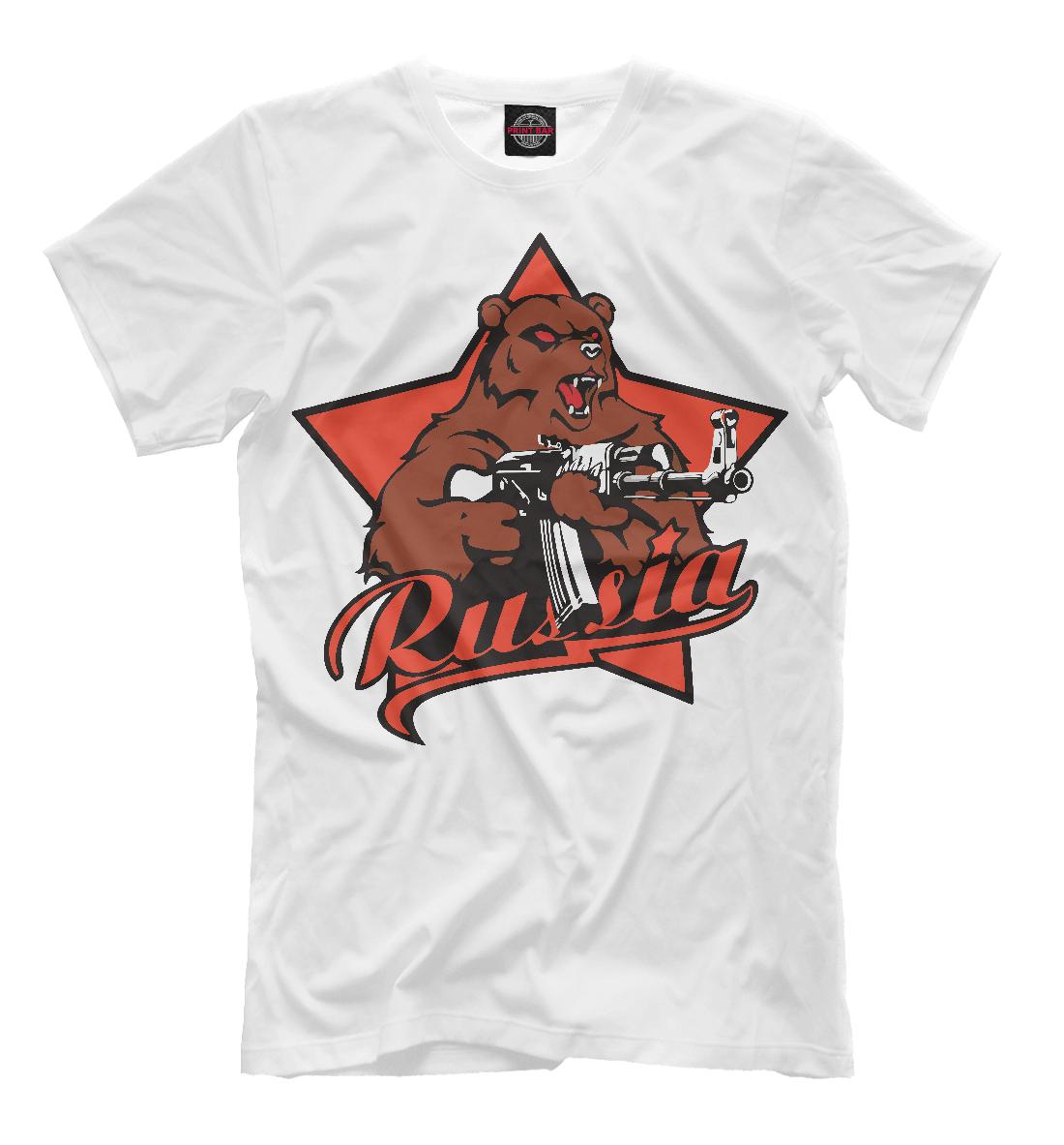 Купить Медведь с автоматом, Printbar, Футболки, SSS-583676-fut-2