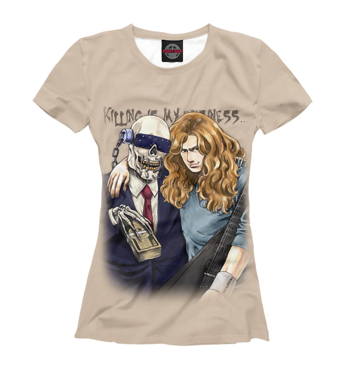 Купить Dave Mustaine and Vic Rattlehead, Printbar, Футболки, MGD-222653-fut-1