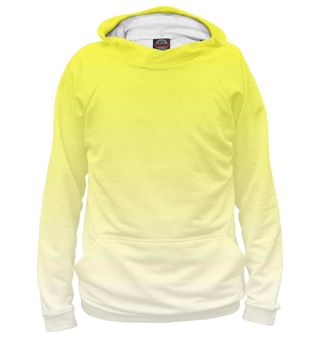 Купить Градиент Желтый в Белый, Printbar, Худи, CLR-252060-hud-1