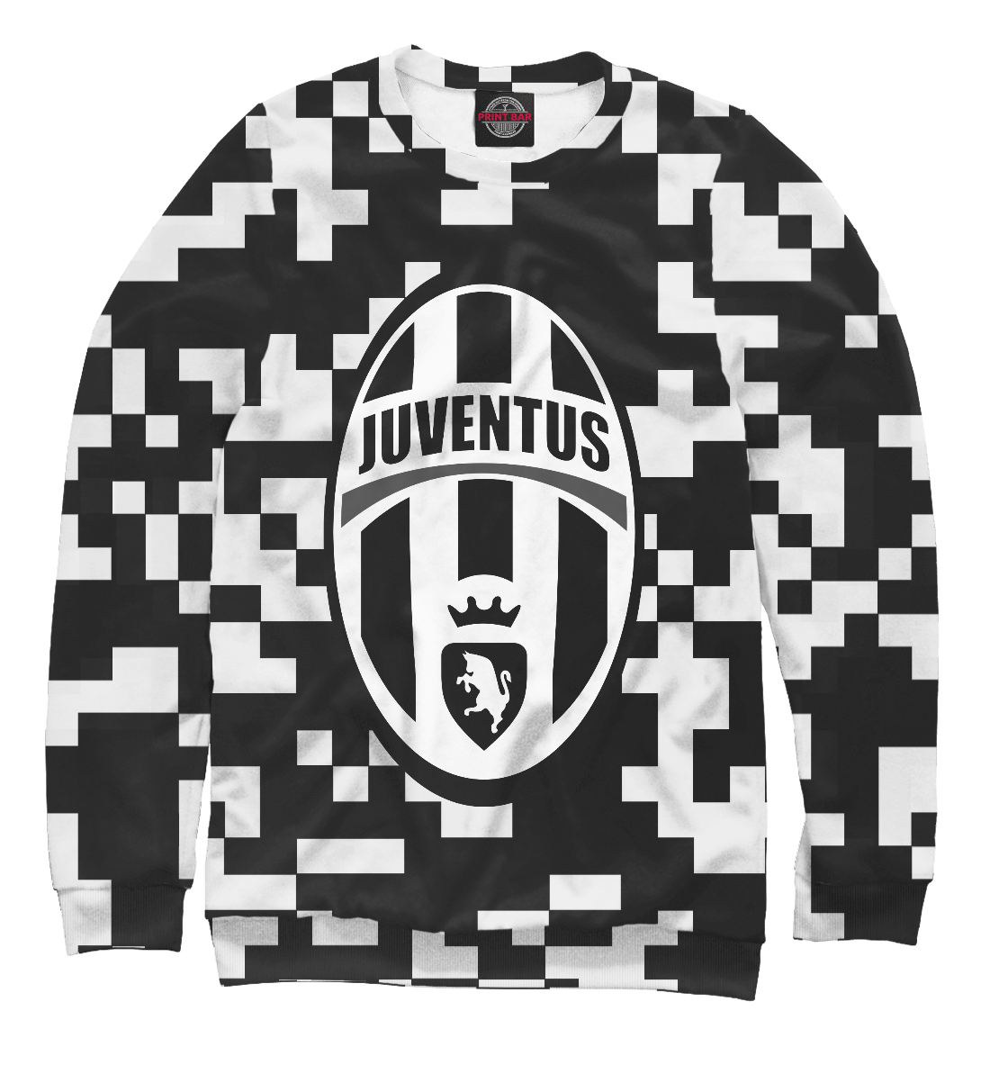 Купить Juventus Pixel Black&White, Printbar, Свитшоты, JUV-847290-swi-2
