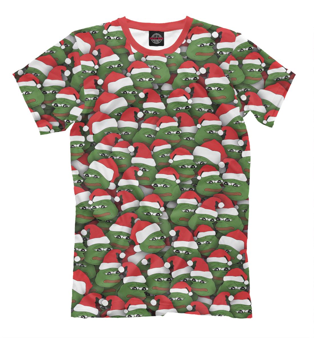 Купить Новогодние лягушки, Printbar, Футболки, NOV-475886-fut-2
