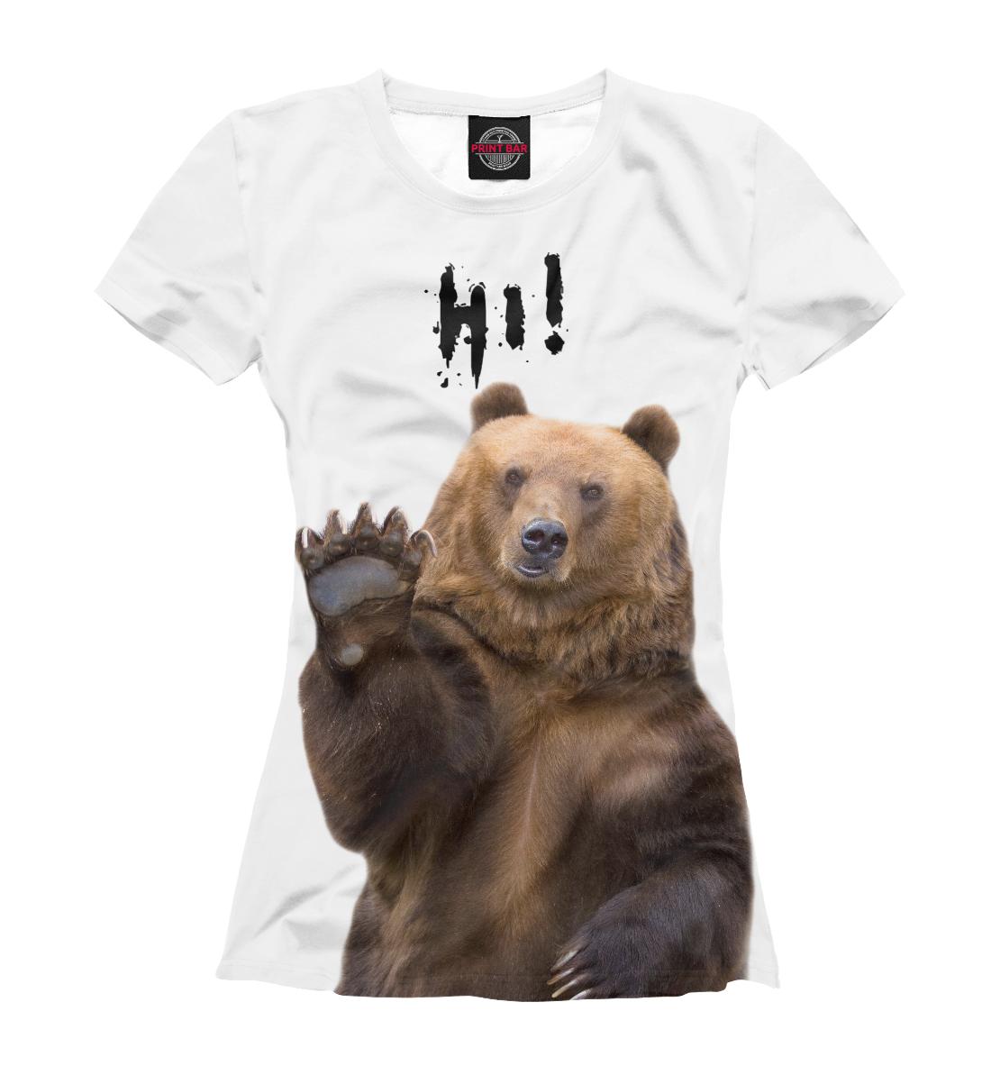 Купить Русский медведь, Printbar, Футболки, MED-125308-fut-1
