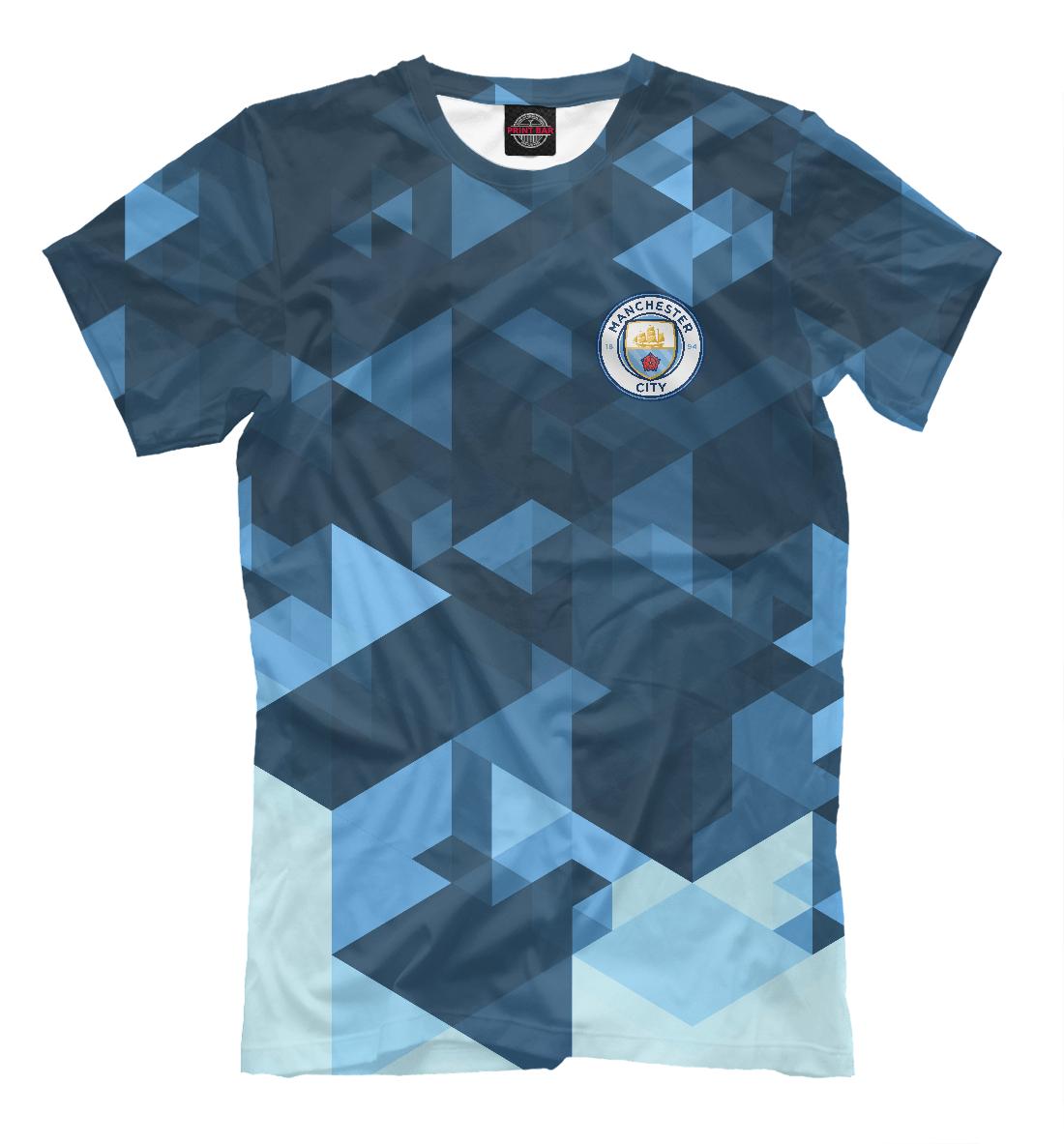 Купить Manchester City Abstract, Printbar, Футболки, MNC-929386-fut-2
