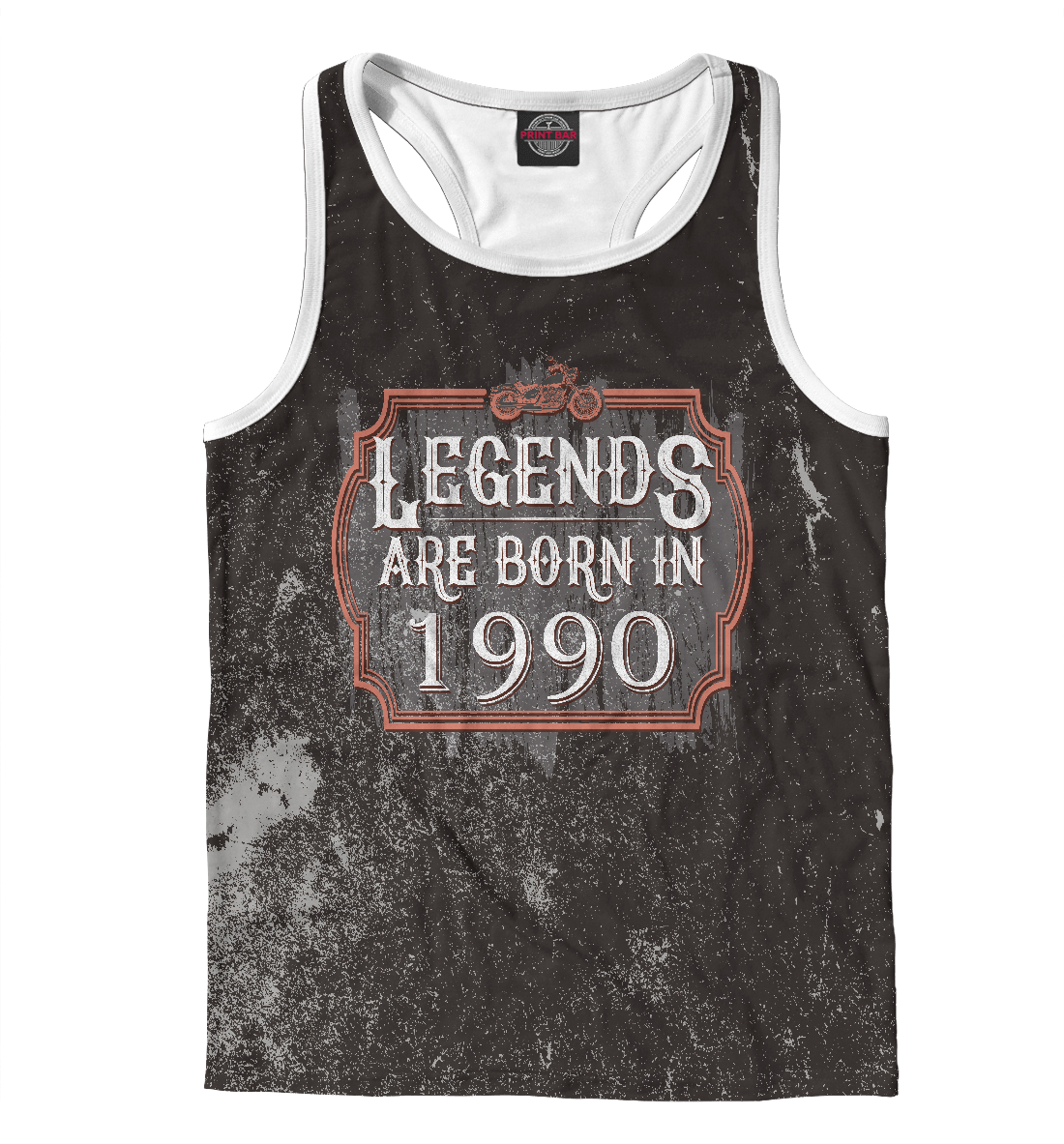 Купить Legends Are Born In 1990, Printbar, Майки борцовки, DDO-735971-mayb-2