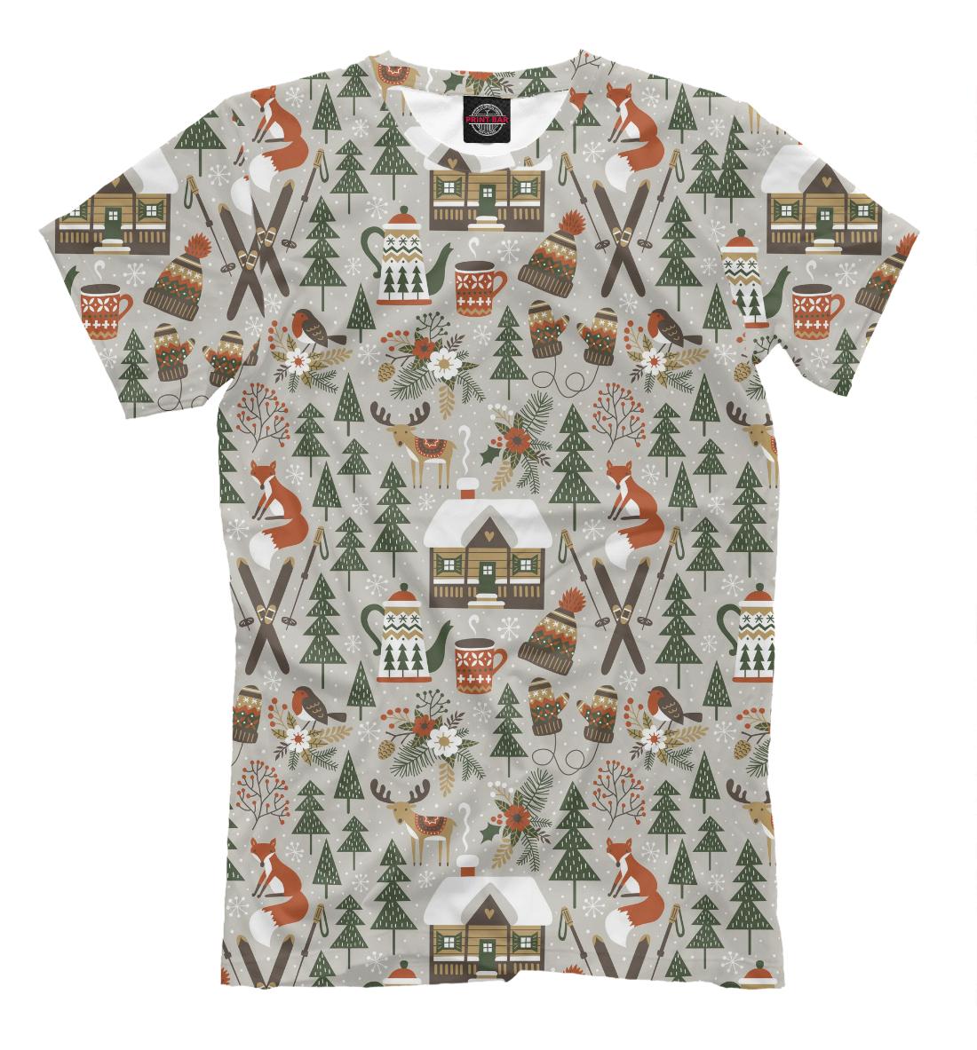 Купить Winter holidays, Printbar, Футболки, NOV-443649-fut-2