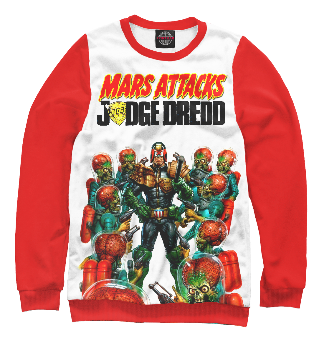 Купить Mars attacks Judge Dredd, Printbar, Свитшоты, CMX-464028-swi-2