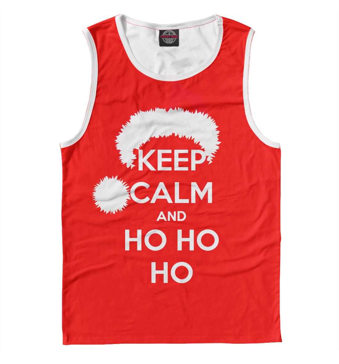 Keep calm and ho ho ho майка борцовка print bar keep calm and get your ho ho ho on