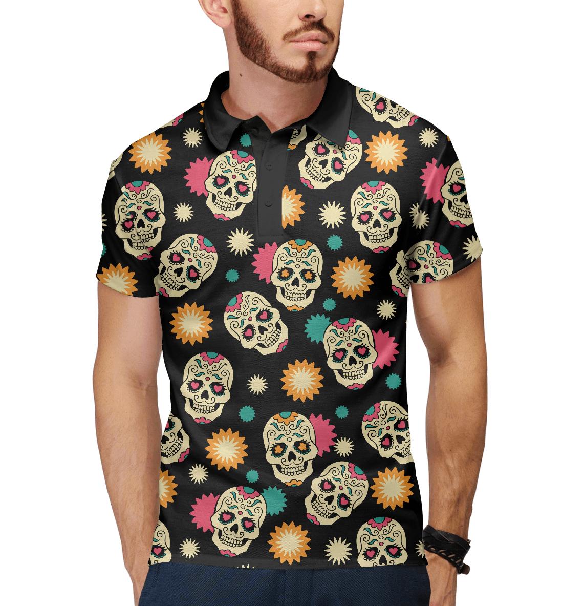 Купить День мёртвых, Мексика, Printbar, Поло, HIP-271313-pol-2