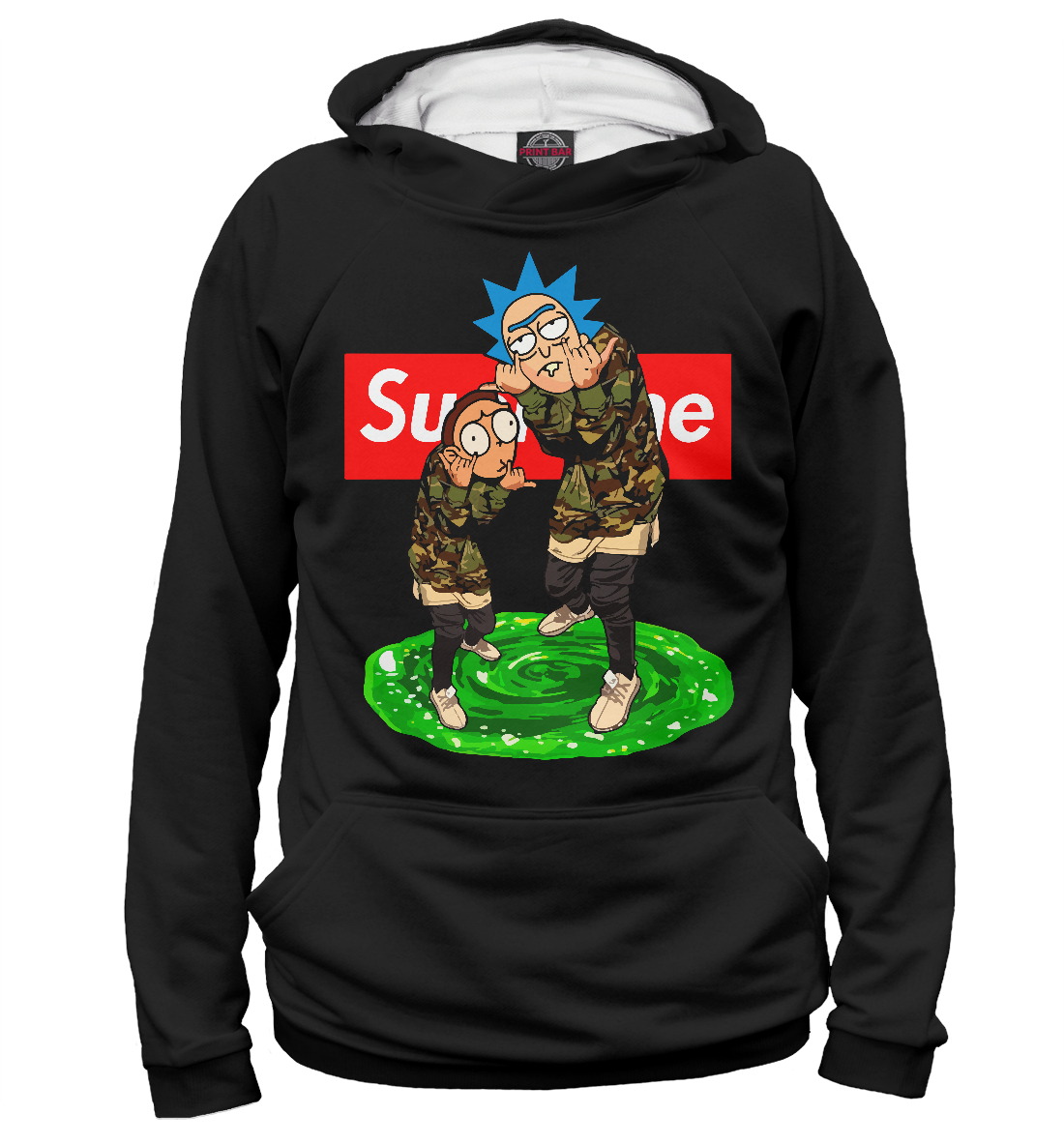 Купить Rick and Morty Supreme, Printbar, Худи, RNM-131050-hud-2