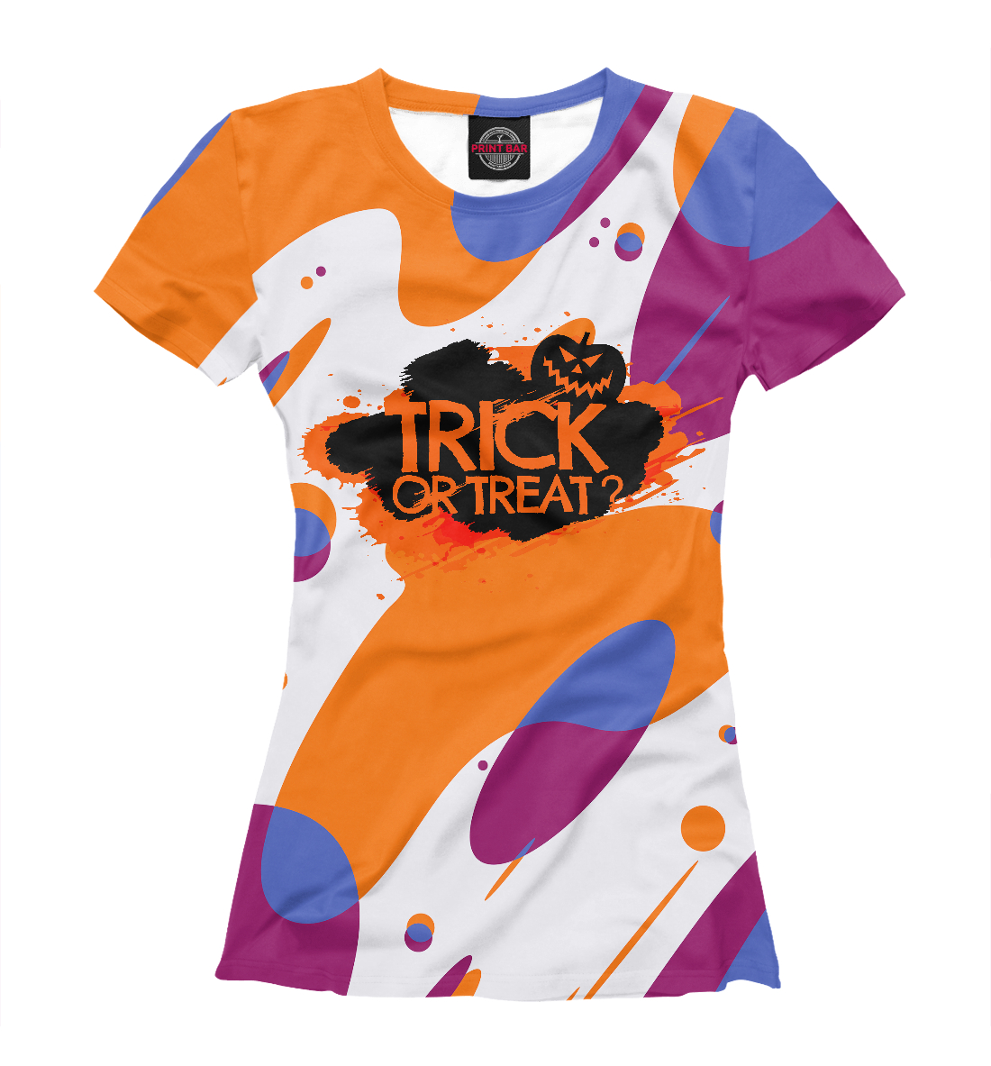 Купить Trick or Treat?, Printbar, Футболки, HAL-162530-fut-1
