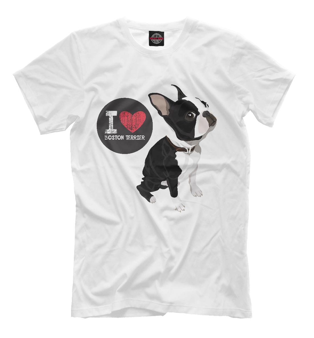 Купить Я люблю Бульдога, Printbar, Футболки, DOG-105696-fut-2