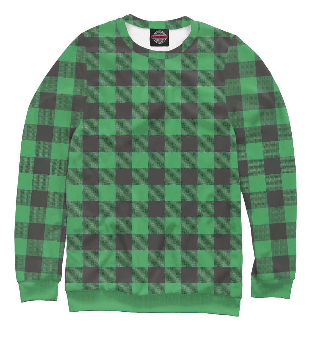плед тексдизайн шотландка Зеленая шотландка