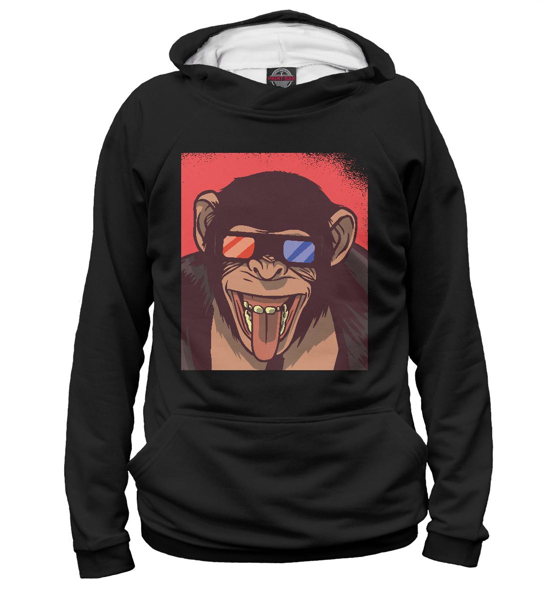 Шимпанзе в 3D очках единорог в 3d очках