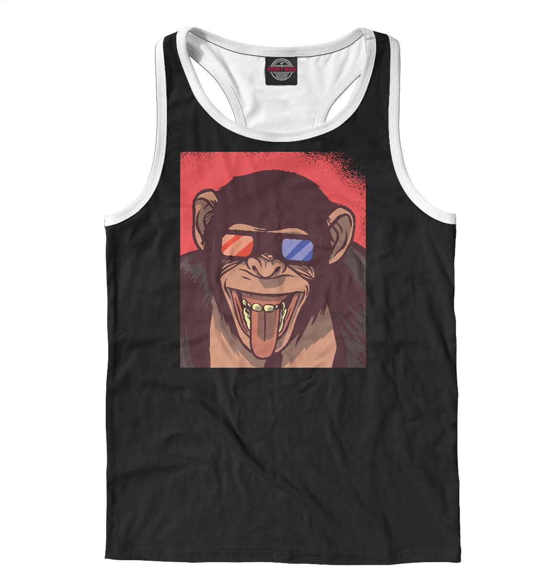 Шимпанзе в 3D очках