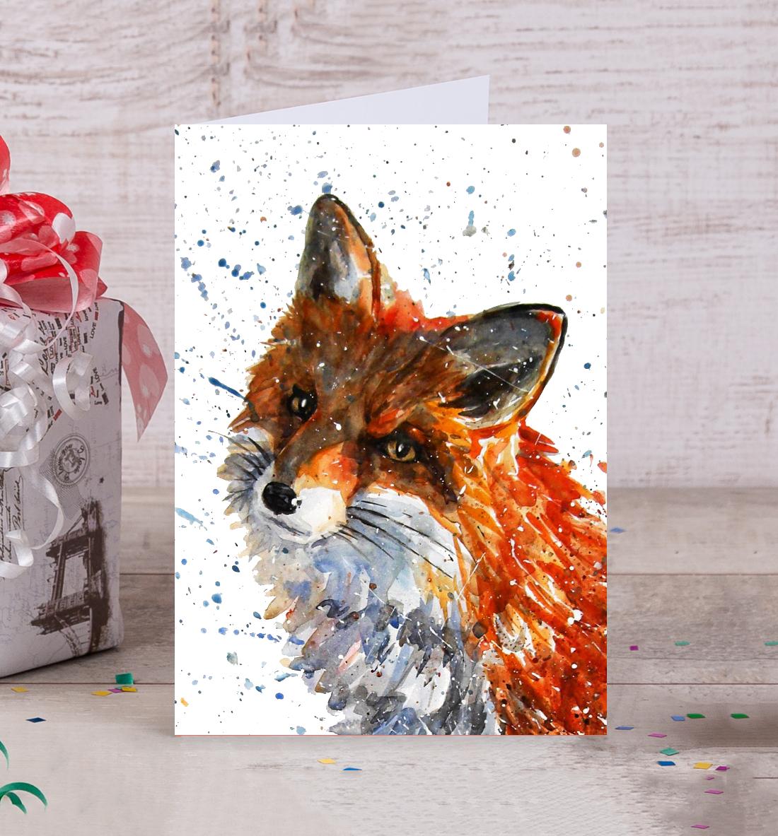 Красный лис открытки сайт, лет женщине