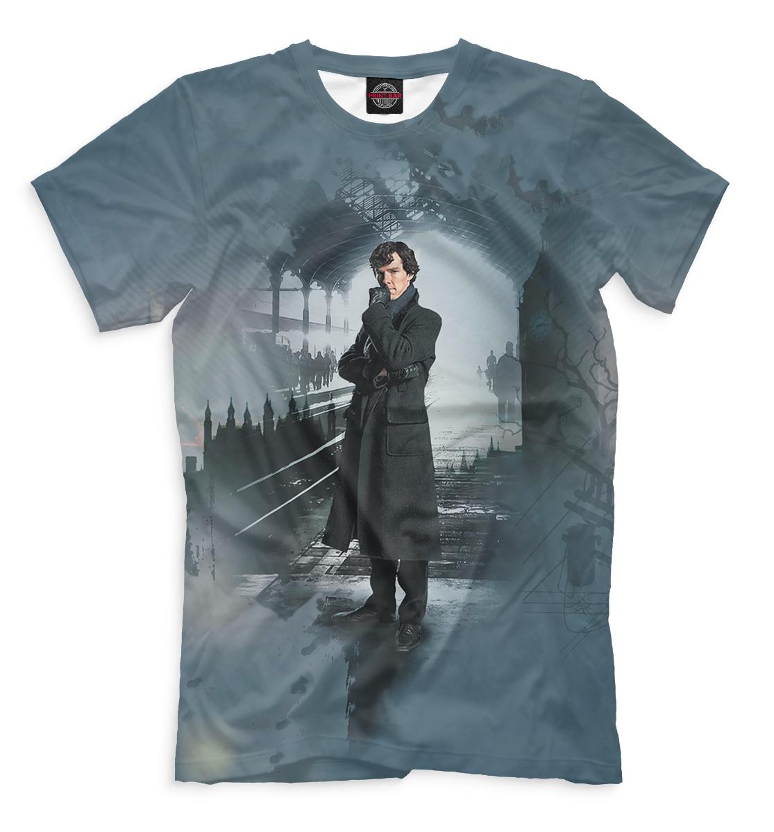 Купить Мужская футболка Шерлок SHE-543896-fut-2