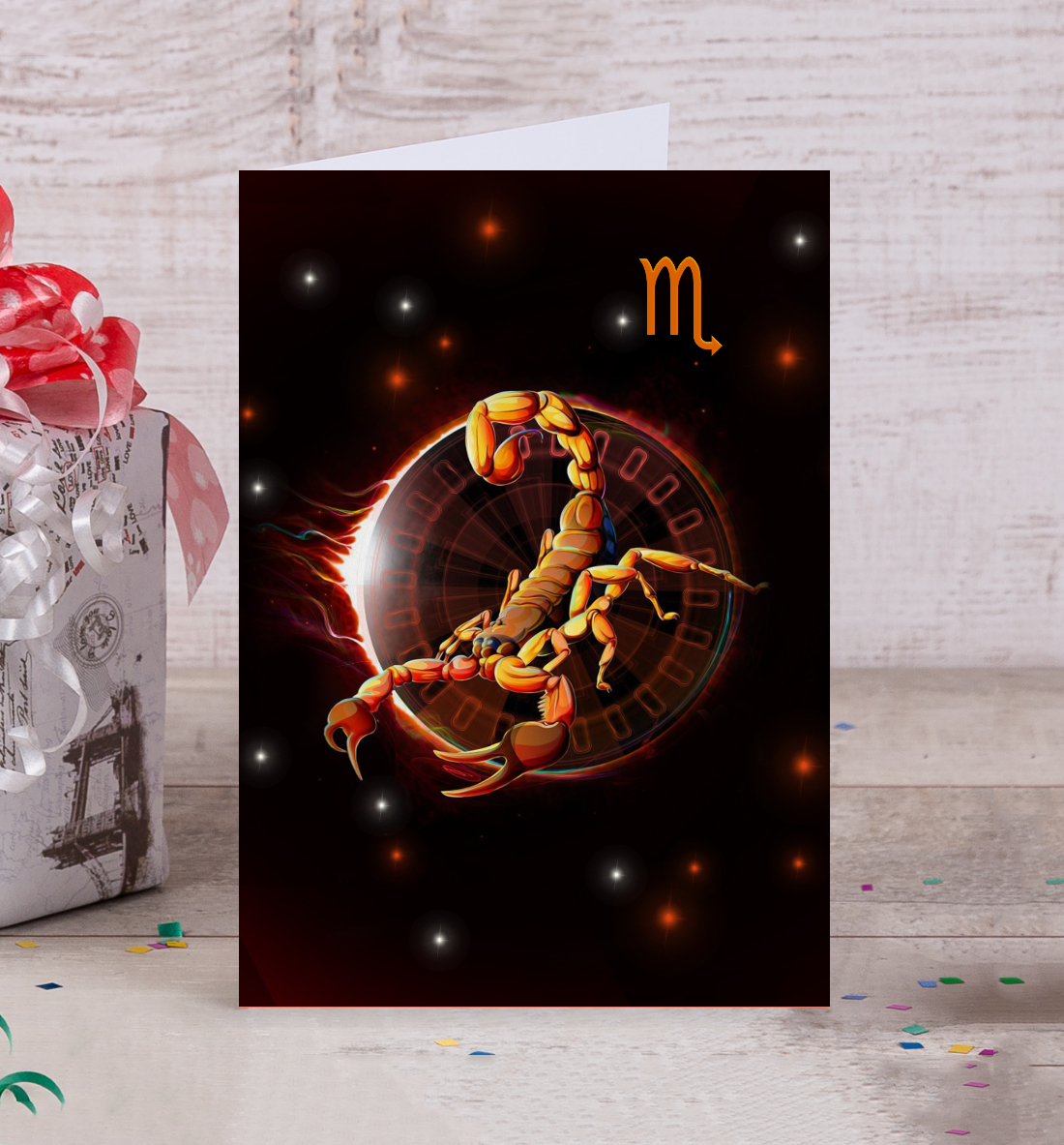 Скорпион открытки флеш