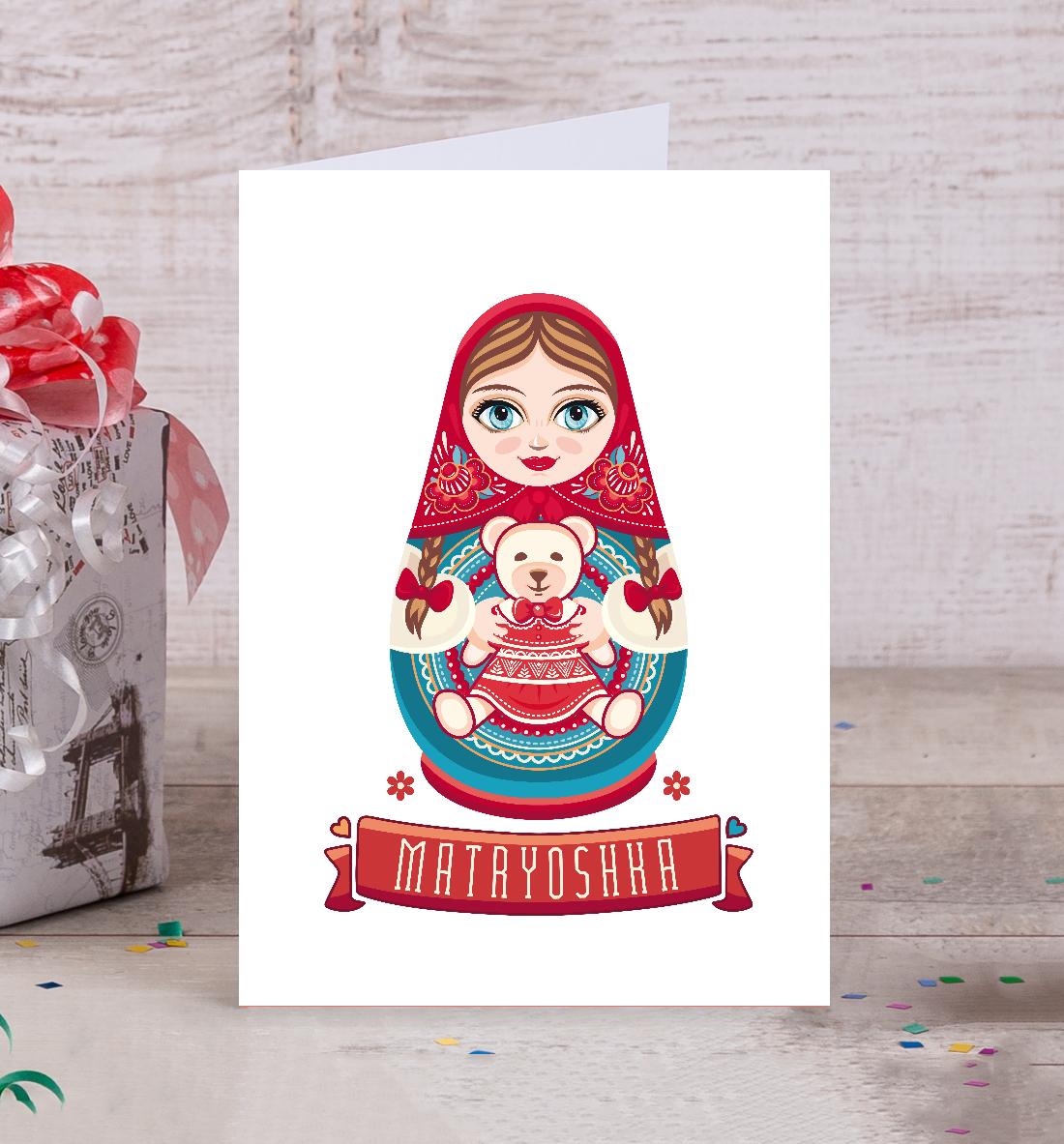 Открытка с матрешками своими руками, любви счастья открытки