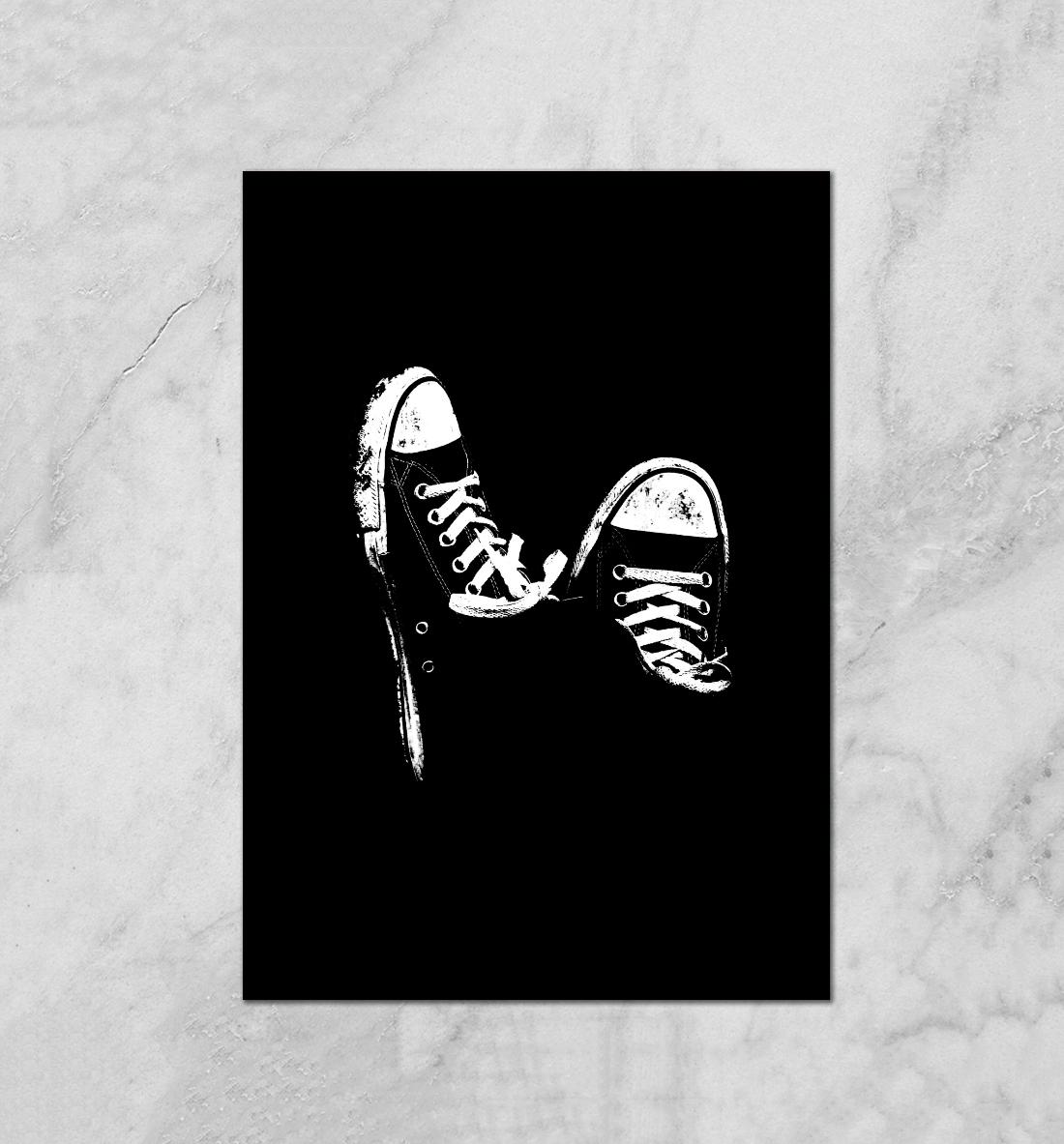 Открытка кроссовок