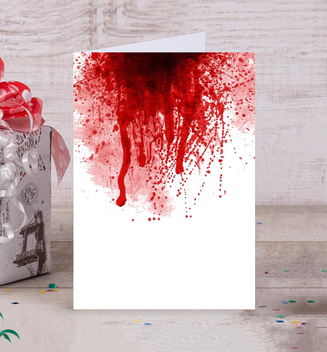 Открытки с кровью