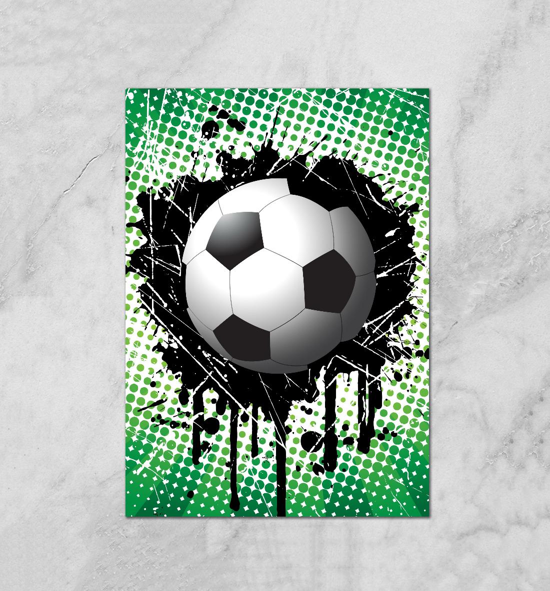 Плакат на футбол своими руками