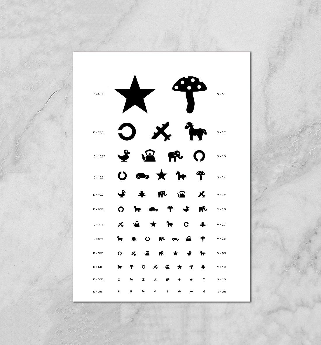 Картинки которые показывают детям окулисты