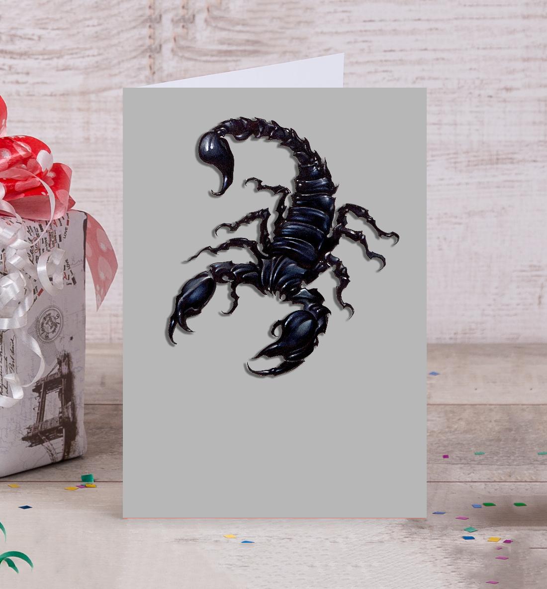 Скорпион сайт открыток