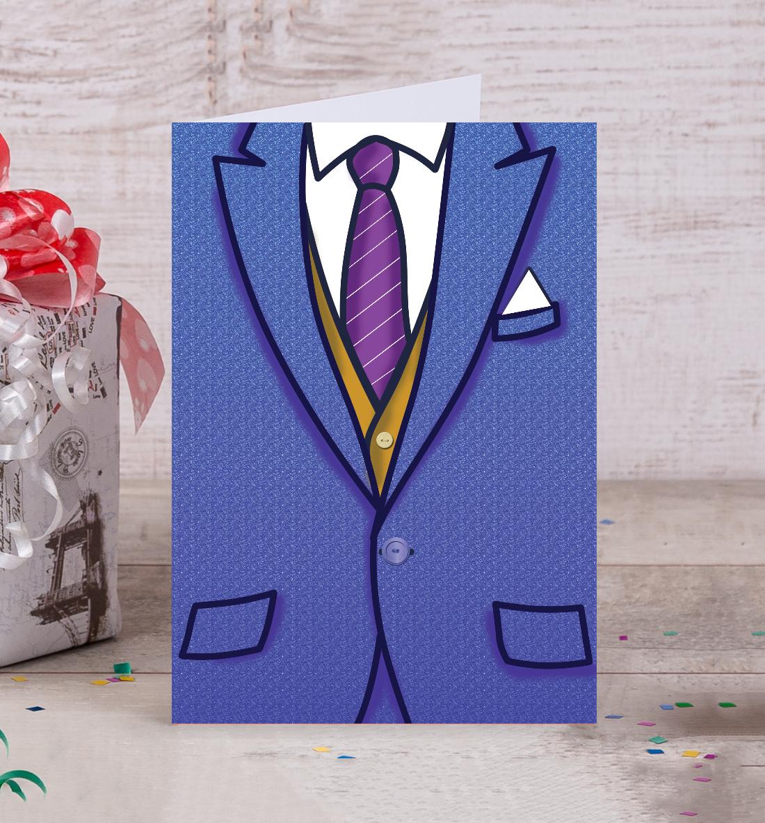 Как сделать открытки с костюмом
