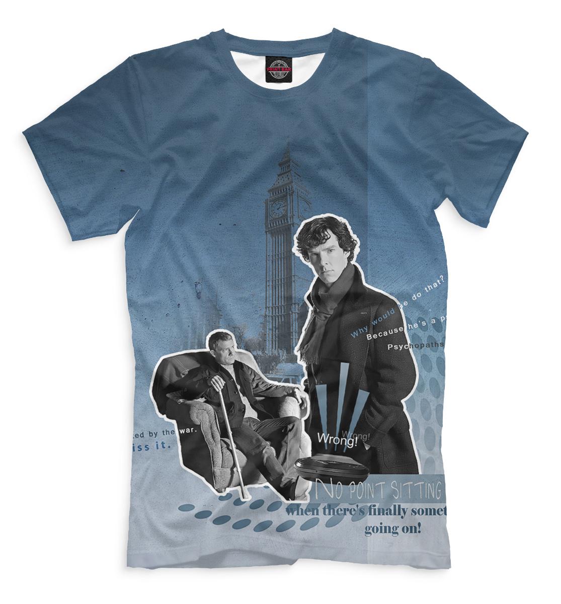Купить Мужская футболка Шерлок SHE-259144-fut-2
