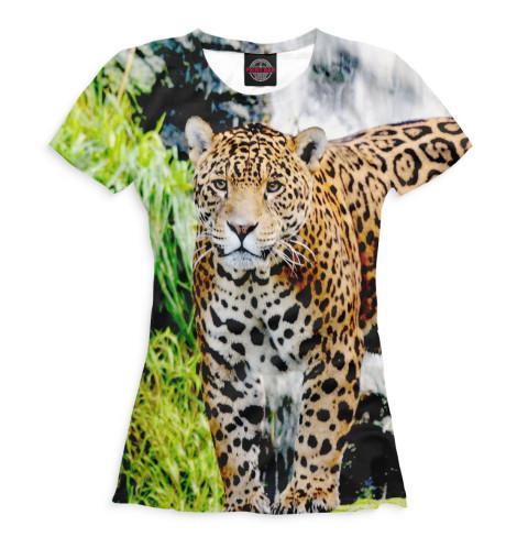 Женская футболка Ягуар