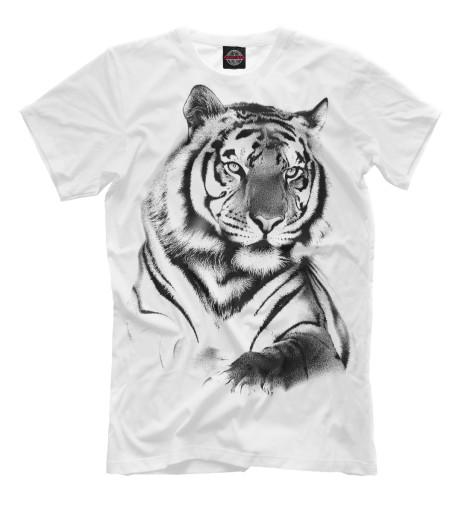 Фото - Мужская футболка Тигр от Print Bar белого цвета