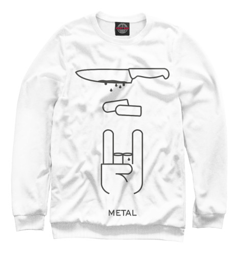 Свитшот Print Bar METAL свитшот print bar black metal ist krieg