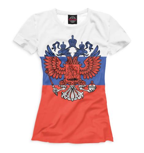 Женская футболка Триколор и герб