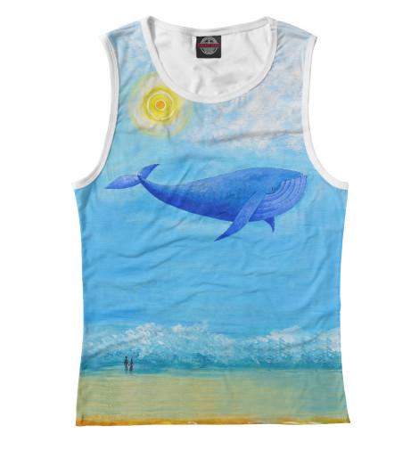 Майка Print Bar Синий кит