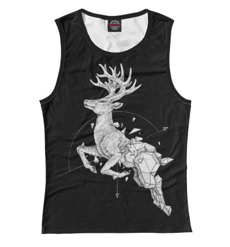 Майка Print Bar Geometric dark deer майка print bar oh my deer