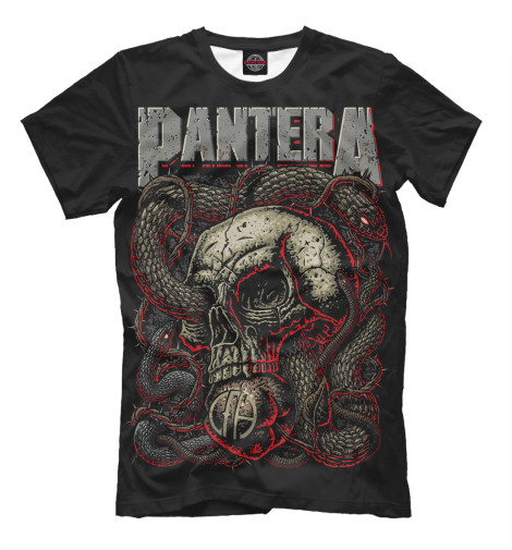 Футболка Print Bar Pantera Skull and Snake худи print bar pantera cowboys from hell