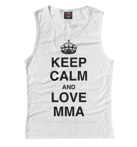 Майка Print Bar Keep Calm And Love MMA футболка wearcraft premium printio keep calm and manezhka green