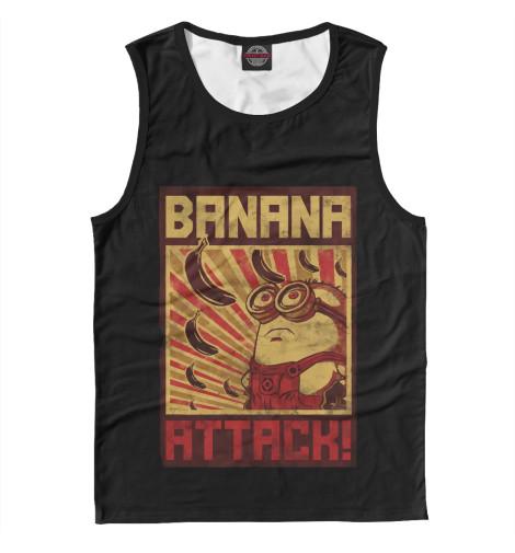 Майка Print Bar Banana Attack поло print bar damask banana