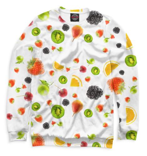Мужской свитшот Фрукты и ягоды
