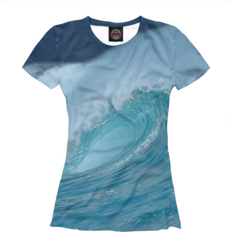Женская футболка Волна