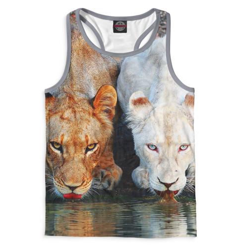 Мужская майка-борцовка Львы