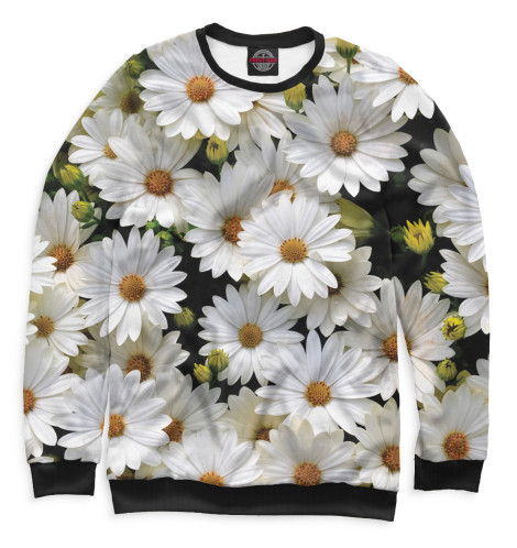 Купить Свитшот для девочек Цветы CVE-513328-swi-1