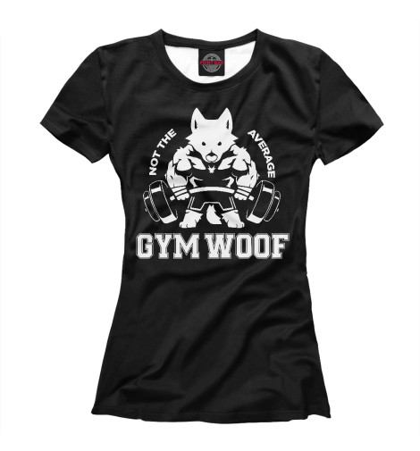 все цены на Футболка Print Bar Gym Woof