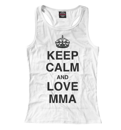 Майка борцовка Print Bar Keep Calm And Love MMA футболка wearcraft premium slim fit printio keep calm art