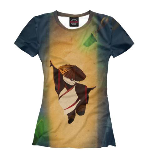 Фото - Женская футболка Кунг-фу Панда от Print Bar белого цвета