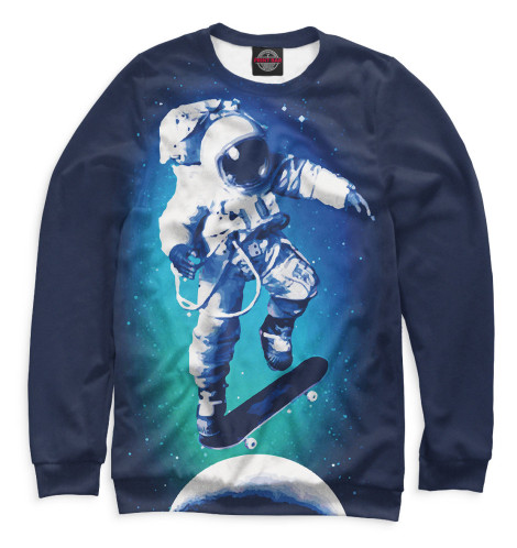 Свитшот Print Bar Космонавт-скейтер майка борцовка print bar космонавт скейтер