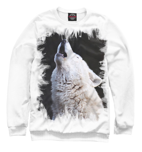 Свитшот Print Bar белый волк свитшот print bar белый мех
