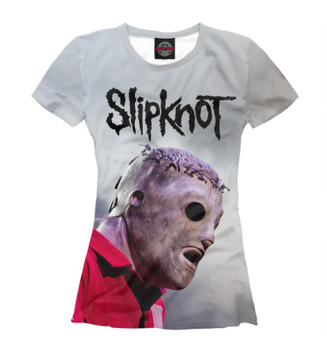 Фото - Женская футболка Slipknot от Print Bar белого цвета