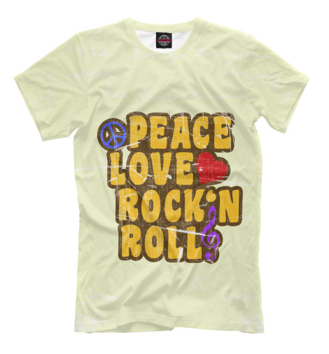 Футболка Print Bar Peace, Love, Rock*n roll