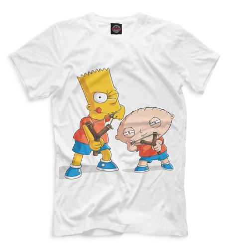 Мужская футболка Барт и Стьюи